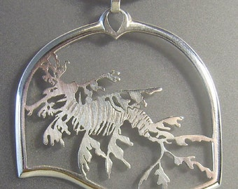 Leafy Seadragon Pendant in Sterling Silver No 14/30