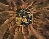 Hands of destiny- Vintage photo montage