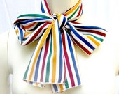 Vintage Silk Sash / Scarf of Multicolored Stripes