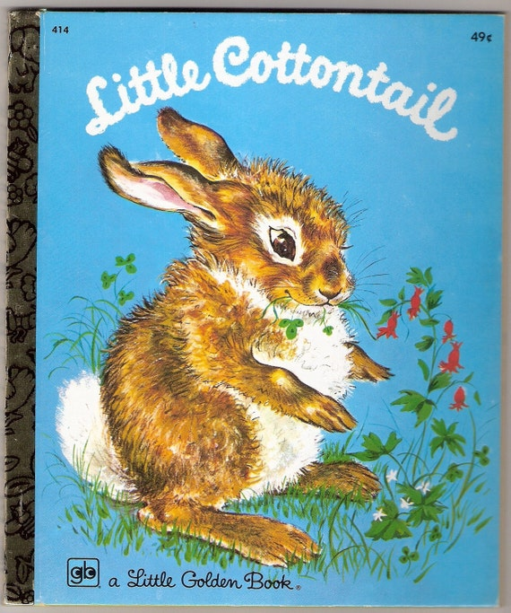 LITTLE COTTONTAIL Little Golden Book by Carl Memling Illustrated by Lilian Obligado 1960 Vintage