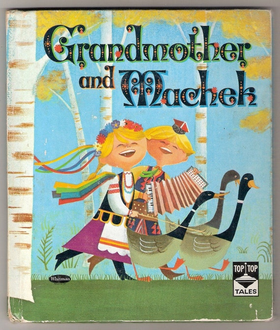 Grandmother and Machek Vintage Whitman Top Top Tale Book Illustrated by Frank Anders 1961