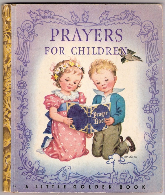 Prayers For Children Vintage Little Golden Book Illustrated by Rachel Taft Dixon