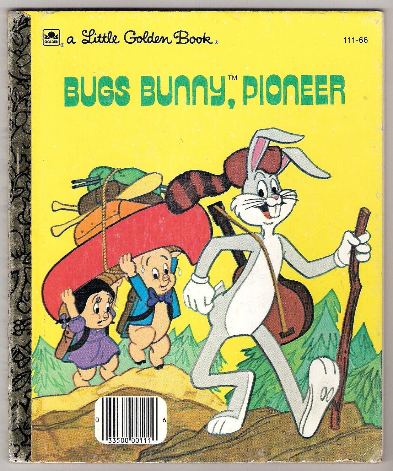 Bugs Bunny Pioneer Vintage Little Golden Book Illustrated By
