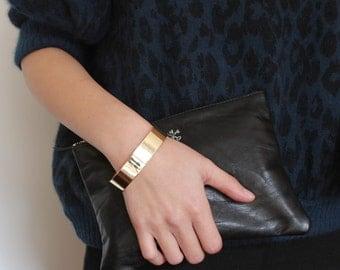 Minimal gold metal cuff