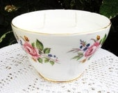 Vintage Fine Bone China Sugar Bowl Candle - Vanilla