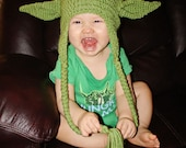 "Crochet Infant or Toddler ""Yoda"" Hat - Made to Order"
