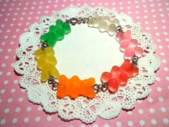 Scented Rainbow Gummy Bear Rubber Bracelet -RESERVED FOR SHANEHH-