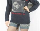 Johnny Cash Newport Folk Festival 1964 The Classic Prison Concerts Black Long Sleeve Sweater Unisex Women Men T-Shirt Rock T-Shirt Size L