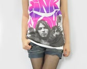 PINK FLOYD David Gilmour Roger Waters Nick Mason Richard Wright Shirt Women Tank Tunic Top Vest Women T-Shirt White T-Shirt Singlet Size M
