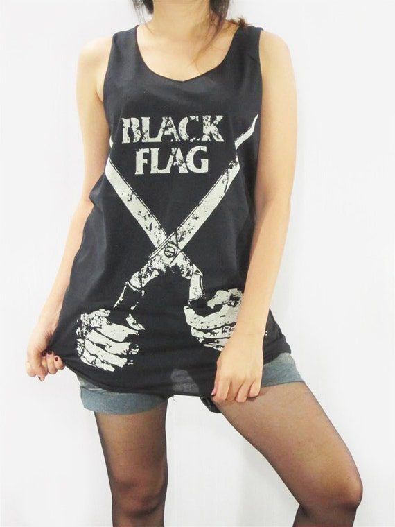 Items Similar To Black Flag Hardcore Punk Rock Teens Girl -5751