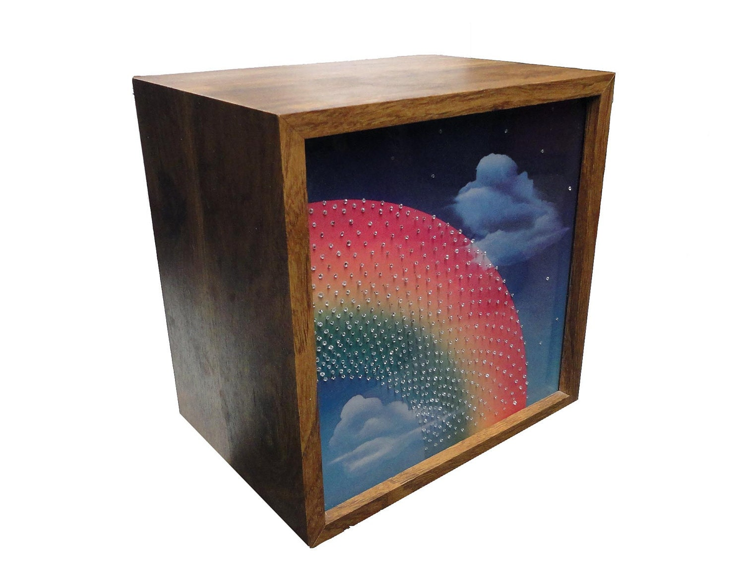 Vintage Motion Lamp 1970 Psychedelic Rainbow Light Box