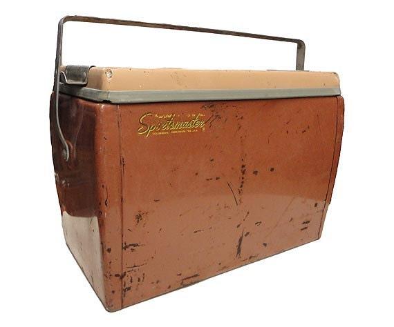 Vintage Metal Cooler Vintage Ice Chest Sportsmaster