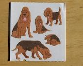 Vintage Sandylion Sticker Fuzzy Blood Hound