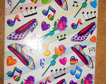 Lisa Frank Full Sheet of Vintage Stickers