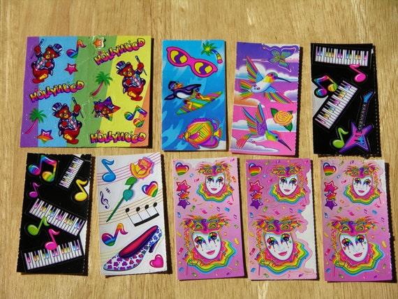 Vintage Lisa Frank Sticker Lot