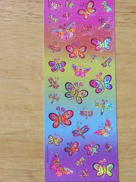 Lisa Frank Stickers Butterflies