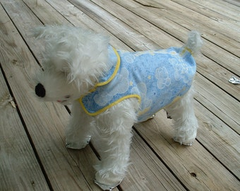 Dog  Vest Jacket - Dog Clothing and Accessories-Blue Cotton Canine Clothes Jackets