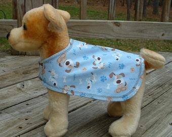 Dog Jacket    -    Dog Clothing & Accessories     -    Blue cotton Print Dog Jacket     -    Canine Clothing