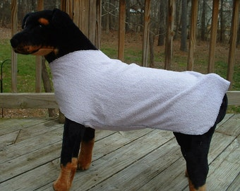 Dog Drying Towel    -     Dog Accessories & Clothing     -     Lavender  Terry Cloth Canine Accessories Towel