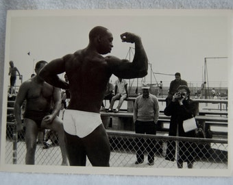 Muscle Beach  Vintage Postcard