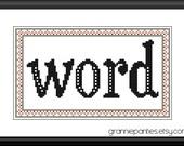 Word - PDF counted cross stitch pattern
