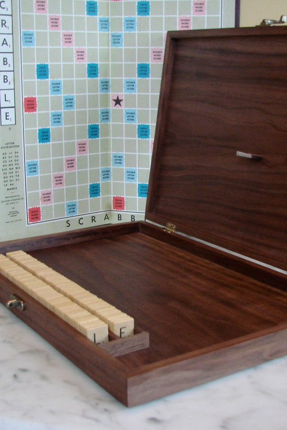 Gorgeous Custom Wood Scrabble Game Box - Sustainable Harvest and Made to Order - Local Woods Available