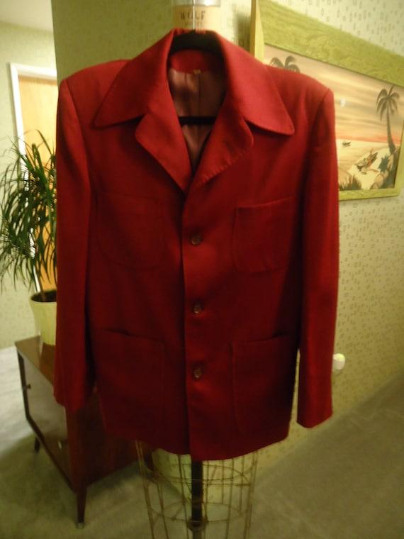 1940's Men's Gabardine ricky ricardo Hollywood Jacket. VLV. rockabily PRICE REDUCED