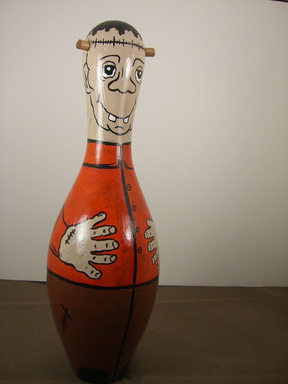 Pin By Jonika Tarot On Totally Tarot Group Board: Frankenstein Bowling Pin By Erwindoodads On Etsy