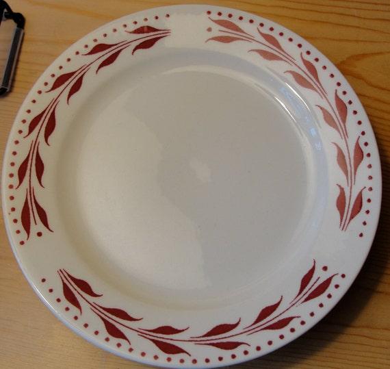 4 Homer Laughlin Bread Plates Dessert Plates Red Wheat Pattern.  Restaurant ware