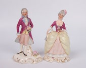 Coventry Mimi and Henri Figurines 5078B and 5079B Vintage Colonial Figurines