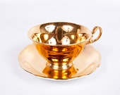RESERVED for Yrna  EB Foley Gold Tea Cup and Saucer Bone China Made in England Simply Tclub
