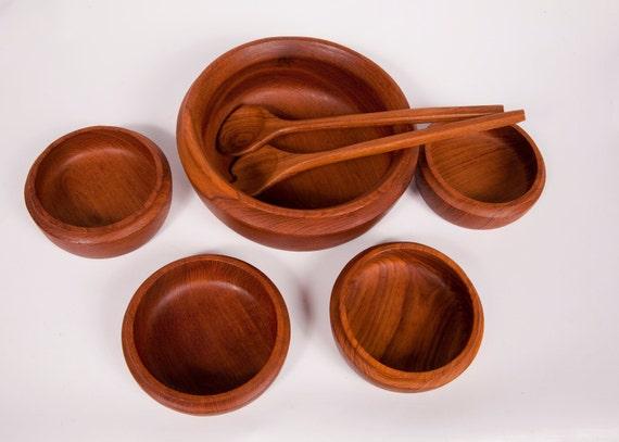 Teak Wood Bowl Set Selandia Designs Wooden Bowls Wooden