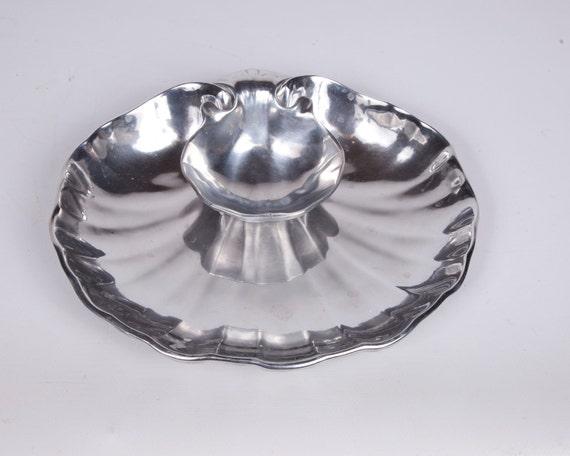 Armetale Shell Server Wilton Hors D'oervres Platter