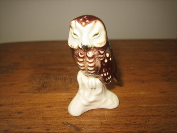 Miniature Goebel Owl With Original Makers Tag