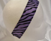 Purple Zebra No Slip Headband