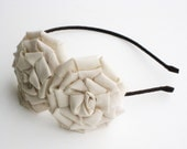 cream flower headband for women and girls