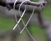 Open Hoop Earrings, Sterling Silver, Gift For Her