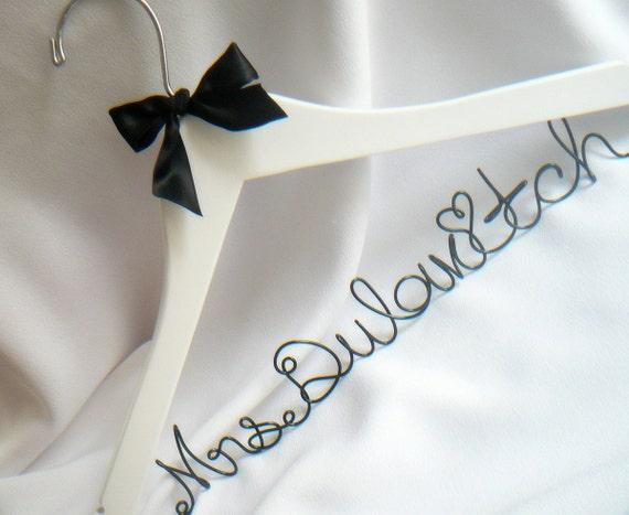 Engagement Gift, Personalized Wedding Hanger, Bride Hangar, Bridal Hanger, Custom