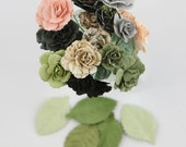 Charme Rose Nature Garden Mulberry Paper Flowers by Prima Marketing