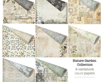 Nature Garden 12x12 Paper Set of Cardstock Papers for Scrapbooking by Jodie Lee for Prima Marketing