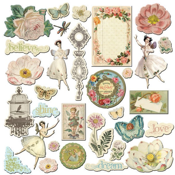 Fairy Belle Chipboard Embellishment Pieces by Jodie Lee for Prima Marketing