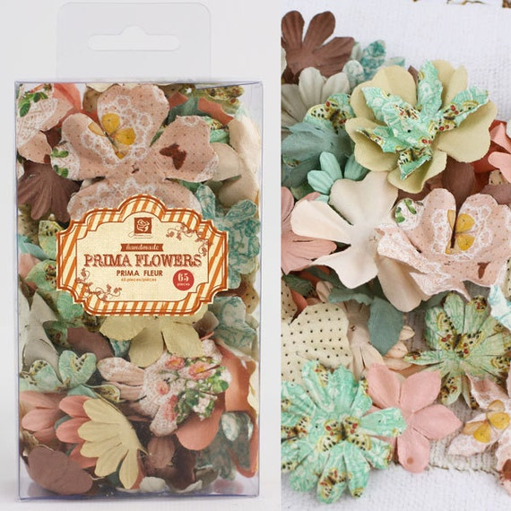 Fairy Belle Essentials Petals Mulberry Paper Flowers by Prima Marketing