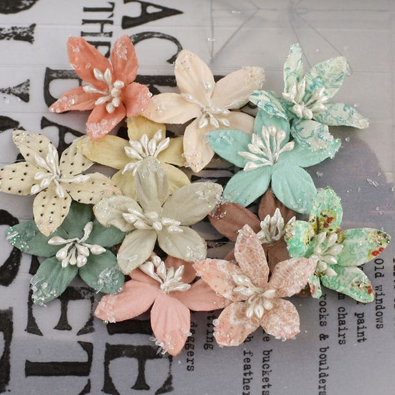 Lucerne Fairy Belle Mulberry Paper Flowers by Prima Marketing