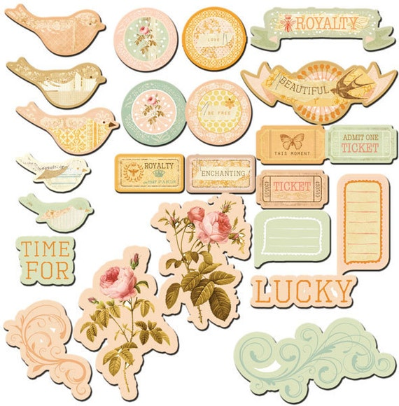 Song Bird Chipboard Embellishment Pieces by Prima Marketing