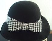 Black Wool Bucket Hat c1960