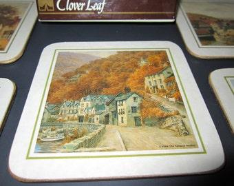 Coaster Set By Clover Leaf c1988