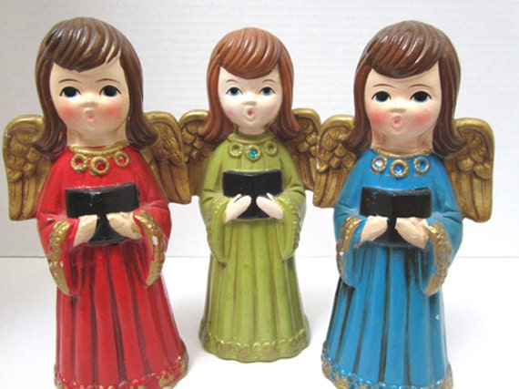 1967 Vintage Christmas Angels