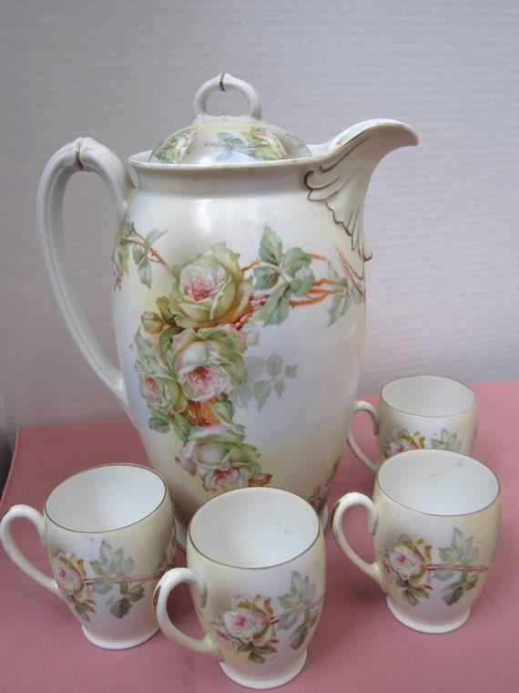 Antique Vintage Chocolate Set or Tea Set