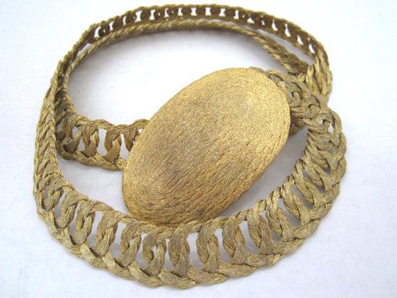 Vintage Golden Tone Belt