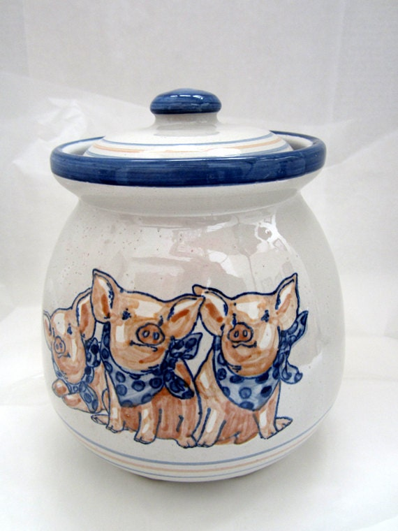 Vintage Louisville Precious Pigs Cookie Jar